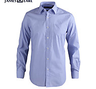 JamesEarl Men's Shirt Collar Long Sleeve Shirt & Blouse Blue - MC1ZC001805