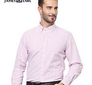 JamesEarl Men's Shirt Collar Long Sleeve Shirt & Blouse Red - M81XF000501