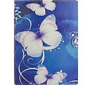 papillon blanc peint support tablette cas PU pour ipad2 / 3/4