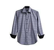 JamesEarl Men's Shirt Collar Long Sleeve Shirt & Blouse Black - DA112046126
