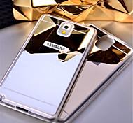для Samsung Galaxy Note5 кейс зеркало ТПУ мягкий акрил задней стороны обложки Примечание 3 Примечание4 примечание 5
