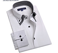 JamesEarl Men's Shirt Collar Long Sleeve Shirt & Blouse White - BA102050525