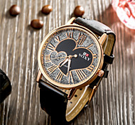 SOXY® Fashion Design High Quality Luxury Standard Unisex Black Leather Strap Couple with Heart Watch