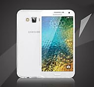 Transparent Thin Design TPU Phone Case for Sansung Galaxy E5/E7