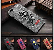 Luxury Retro Handmade Embroidery Rose Sculpture Leather Phone Back Case For Apple iPhone 6 / 6S (Assorted Color)