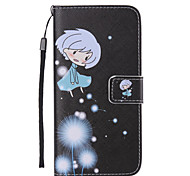 Girl Dandelion Painted PU Phone Case for Galaxy S6edge Plus/S6edge/S6/S5/S5mini/S4/S4mini/S3/S3mini