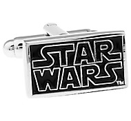 STAR WARS Star Wars Star Wars rectangular black French shirt cufflinks cuff nail