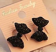 Women's Fashion Cute Black Butterfly Bow Earrings