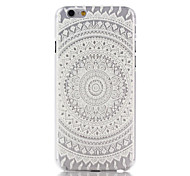 Snow White Mandala Flower Pattern PC Hard Back Cover Case for iPhone 6
