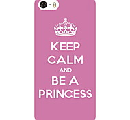 Crown Proverb Pattern Hard Case for iPhone5/5S