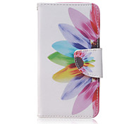 Sunflower Pattern Fashion PU Leather Case with Stand and Card Holder for Huawei Y560