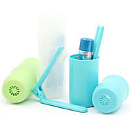 BirdRoom®Travel Toothbrush Toothpaste Comb Tooth Set Box of Portable Mini Washing Cup Set of 4 (Assorted Color)