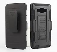 2 in 1 design case hard plastic huid + zacht buitenste siliconen case voor Samsung Galaxy a3 / a7