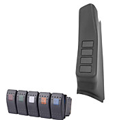 Iztoss Black Left Side A-Pillar 4-Switch housing Pod for Jeep Wrangler JK 07-15 with 5 rocker switches