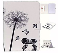 Love Dandelion and TPU Textile Cloth Card Slot Stents The Cladding For Apple iPad 4/3/2