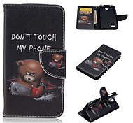 Saw the Bear Pattern Fashion PU Leather Case with Stand and Card Holder for Huawei Y560(Assorted Colors)