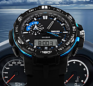 Men's Double Time Analog Digital Sport Watch Fashion Sporty Wristwatch