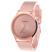 Top Brand Stainless steel fine mesh concise fashion rose gold watch women wristwatches quartz watches