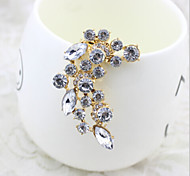 New Arrival Fashional Rhinestone Crystal Leaf Earrings