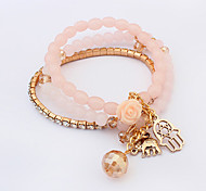 European Style Fashion Multilayer Beads Elephant Bracelet