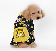Dog Costume / Shirt / T-Shirt / Clothes/Jumpsuit Black / Pink / Yellow / Orange Spring/Fall Polka DotsCosplay / Valentine / Holiday / New