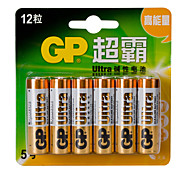 LR6 GP Batteries AA 1,5V ménagers 12pcs