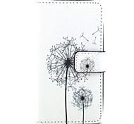 одуванчик шаблон слот искусственная кожа стенд карточка LG Bello d337