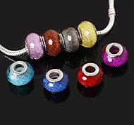 beadia 10шт смолы крупные бусины отверстие 10x14mm соответствовать европейским ожерелья браслеты