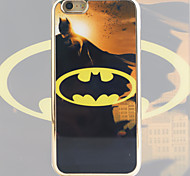 Bat Pattern Black Gold Plated High-Grade TPU Phone Case for iPhone 6/6S