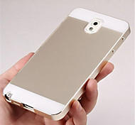 Two-in-one KX Brand Metal Frame Acrylic Mirror Backplane Metal Hard Case for Samsung Galaxy Note 3