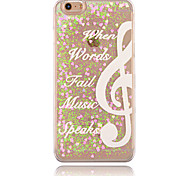 For iPhone 6 Case / iPhone 6 Plus Case Flowing Liquid / Transparent / Pattern Case Back Cover Case Word / Phrase Hard PCiPhone 6s Plus/6