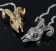 Sheep Head Men's Stainless Steel Domineering Necklace