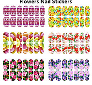 1pcs Glowing Flower Nail Stickers