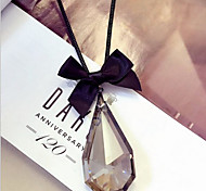 New Arrival Fashion Jewelry Popular Bow Crystal Water Drop Necklace
