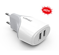 2 Dual USB Ports Charger Adapter EU Plug for Samsung&iPhone Smartphone Device