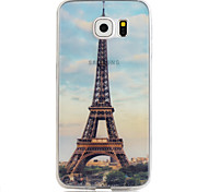 paris na primavera 3d padrão TPU + PMMA caso de telefone macio para Samsung Galaxy S6