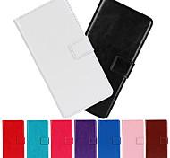 einfarbig Luxus-Ledertasche mit Schutzfolie für iPhone 6 / 6S