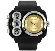SKMEI® Men's Dual Time Analog-Digital Sports Watch Rectangle Design Wristwatch Cool Watch Unique Watch