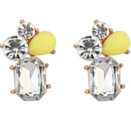 European And American Minimalist Stitching Fashion Crystal Earring