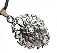 Men Fashion Stainless Steel Lion Pendant Necklace