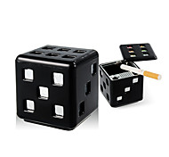 Universal Dice Modelling Cube Style Cigarette Cigar Car Ashtray With Removable Base and Double-sided Adhesive