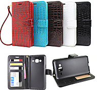 Flip Leather Magnetic Protective Case For Samsung Galaxy J3(Assorted Colors)