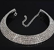 European Style Fashion Five Rows of Rhinestone Necklace Bride Necklace