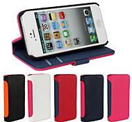 Zahnstocher markiert Brieftasche Luxus-Ledertasche mit Schutzfolie für iPhone 5 / 5s