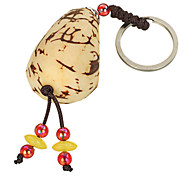 Fashion Natural Ivory Nut + Linden Seed Keychain