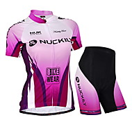 NUCKILY® Cycling Jersey with Shorts Women's / Unisex Short Sleeve BikeWaterproof / Breathable / Ultraviolet Resistant / Waterproof Zipper