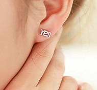 YES Or NO Non-mainstream Personality Stud Earrings