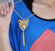 New Arrival Fashion Jewelry Rhinestone Lion Head Necklace