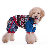 Dog Coat / Clothes/Jumpsuit / Clothes/Clothing Blue / Pink Winter Snowflake Keep Warm / Fashion