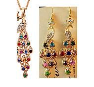MISSING U Women Vintage / Party Alloy / Rhinestone / Gemstone & Crystal Necklace / Earrings Jewelry Sets